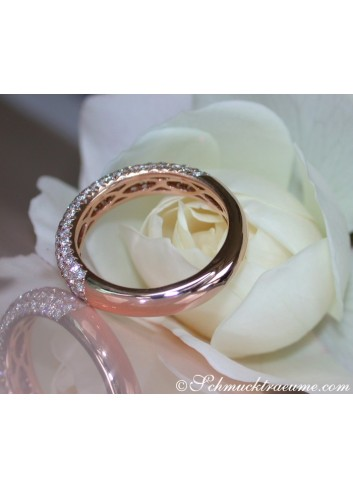 Brillanten Pavé Ring in Roségold