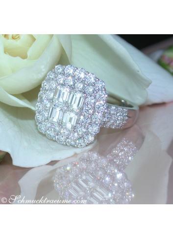 Brillanten Ring mit lupenreinen Diamanten