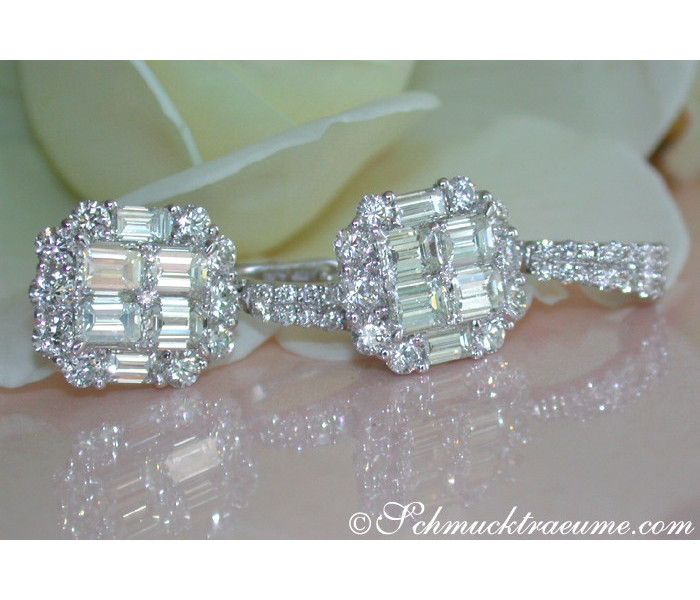 Exquisite Diamond Earrings with Flawless Diamonds