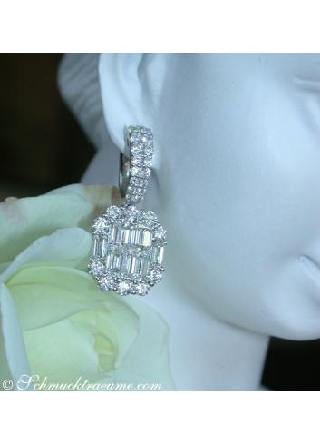 Brillanten Ohrstecker mit lupenreinen Diamanten
