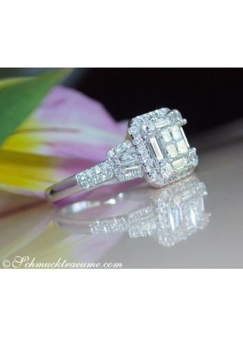 Precious Diamond Ring with Baguette & Princess Diamonds