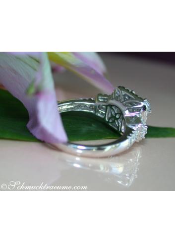Precious Diamond Ring with Baguette & Princess Diamonds