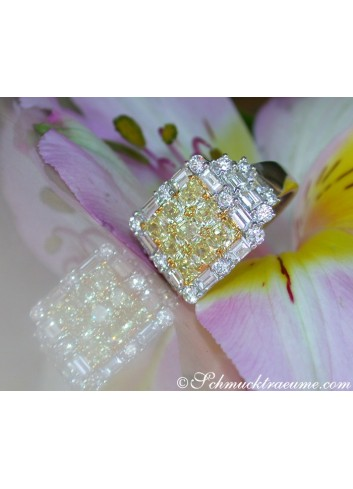 Brillanten Ring mit gelben Diamanten