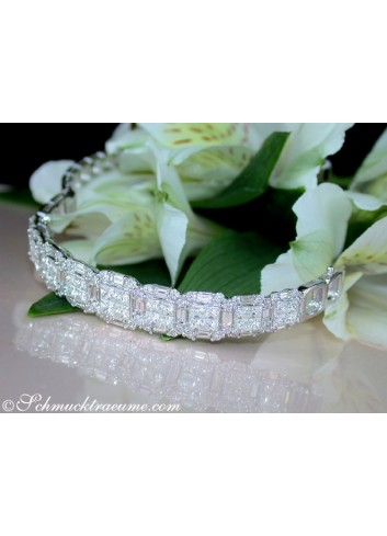 Fabulous Bangle with Brilliant, Princess & Baguette Diamonds