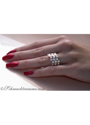 Drei Brillanten Memory Ringe / Stacking Rings