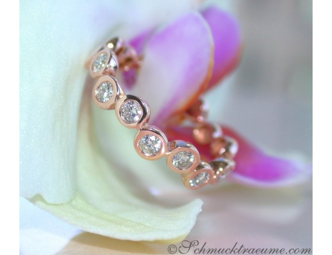 Brillanten Memory Ring in Roségold 585