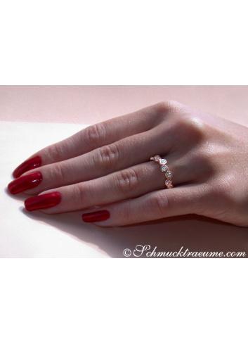 Brillanten Memory Ring in Roségold 585