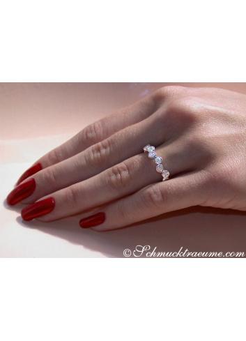 Brillanten Memory Ring in Weißgold 585