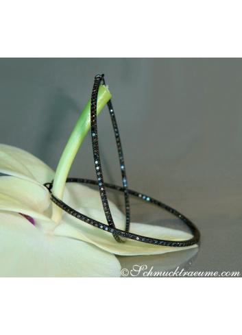 Striking Black Diamond Hoops (Ø 47 mm)