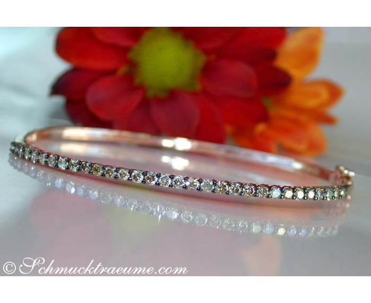 Timeless Bangle with Natural Brown Diamonds