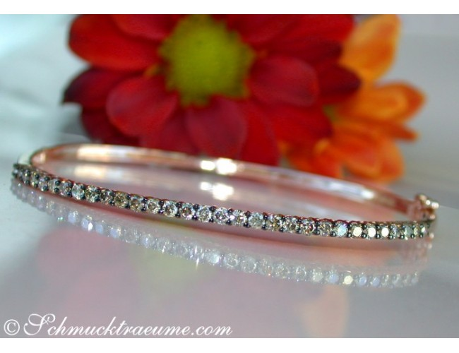 Timeless Bangle with Natural Brown Diamonds