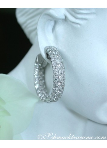 Stately Diamond Pavé Hoops (Ø 24 mm)