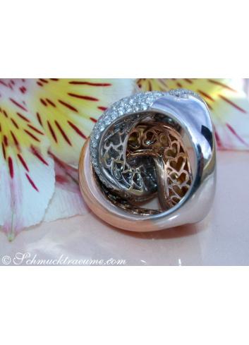 Verschlungener Brillanten Ring