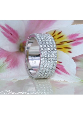 Extra Flat Diamond Eternity Ring