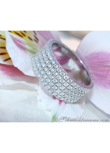 Extra Flat Diamond Eternity Ring in White gold 18k