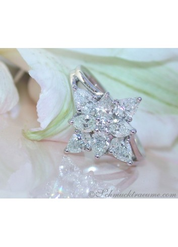 Picture Perfect Pear Shape Diamond Ring (Star Design)