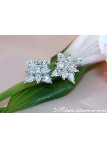 Picture Perfect Pear Shape Diamond Studs (Star Design)