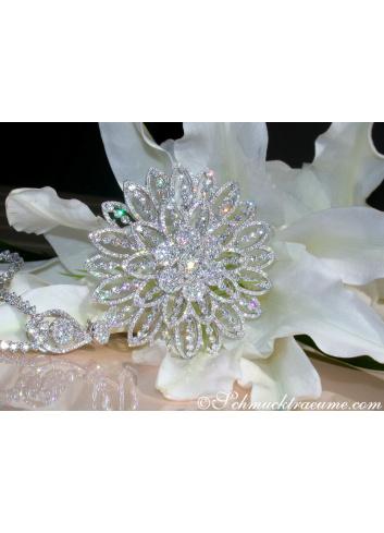 Gigantic Diamond Pendant / Brooch with Impressive Dimensions