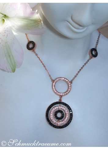 Unusual Black & White Diamond Necklace