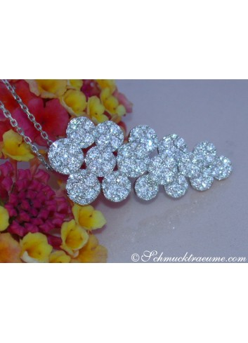 "Precious Diamond ""Grape Design"" Pendant"
