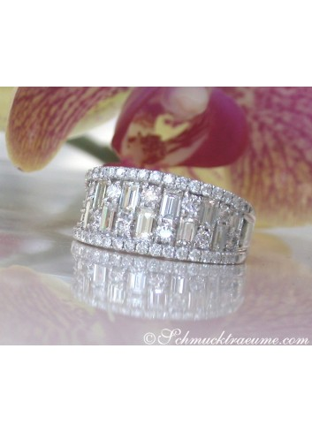 Tremendous Diamond Band with Baguette Diamonds