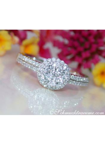 Klassischer Brillanten Ring in Weißgold 750