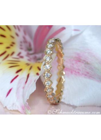 Three Puristic Diamond Rings (Stacking Rings)