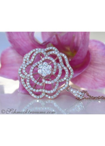 "Terrific Diamond ""Rose"" Pendant"
