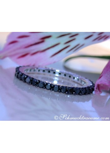 Timeless Black Diamond Eternity Ring