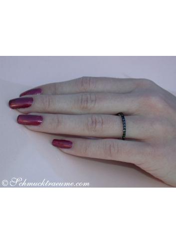 Timeless Black Diamond Eternity Ring