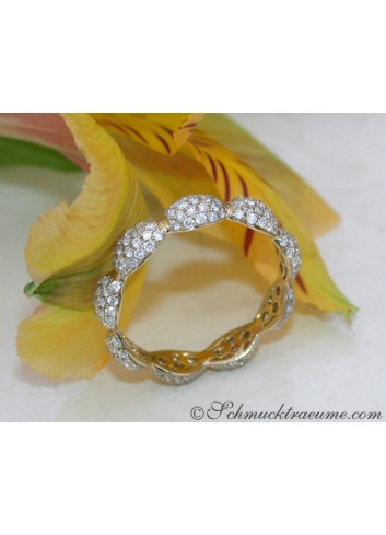 Brillanten Pavé Memory Ring in Gelbgold