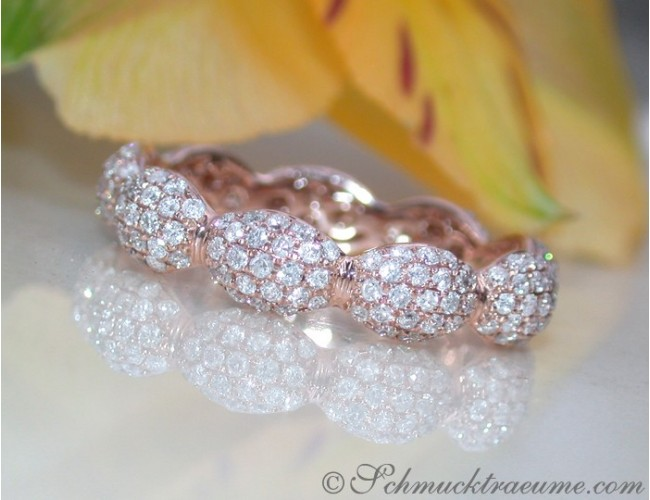 Timeless Diamond Pavé Eternity Ring in Rose gold