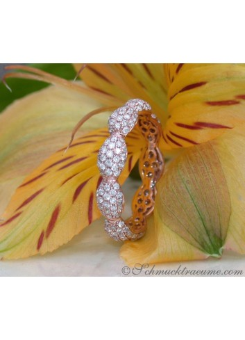 Feinster Brillanten Pavé Memory Ring in Roségold