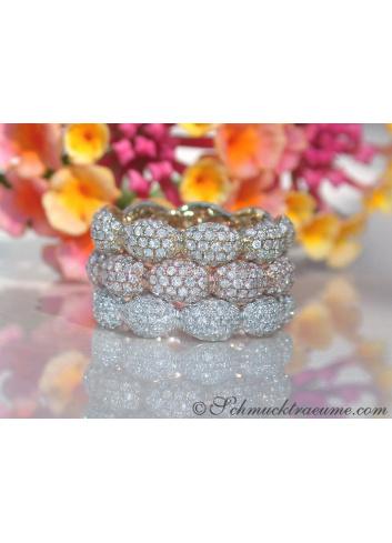 Timeless Diamond Pavé Eternity Ring in Rose gold