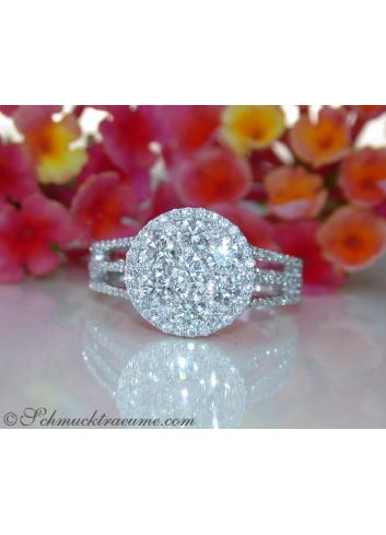 Extra flat Diamond Ring