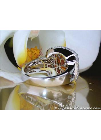 Amazing Madeira Citrine Ring with Diamonds