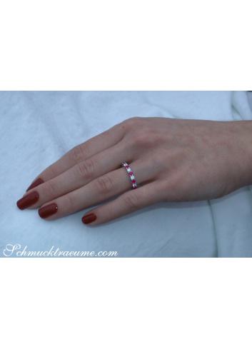 Brillanten Memory Ring mit Rubinen