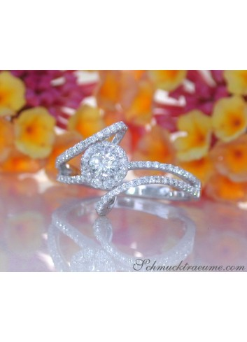 Delicate Diamond Solitaire Ring