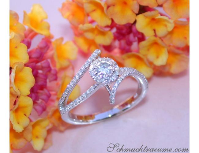 Delicate Diamond Solitaire Ring