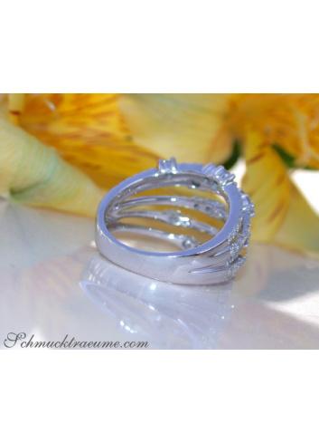 Mehrreihiger Brillanten Ring in Weißgold 750