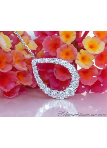 Precious Diamond Pear Pendant