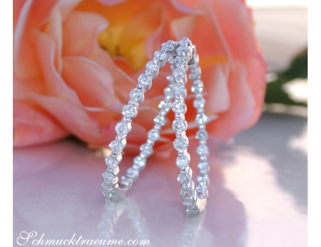 Pretty Diamond Hoop Earrings (Ø 31 mm)