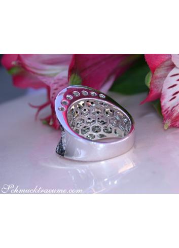 Brillanten Ring mit schwarzen Diamanten im Zig-Zag Design