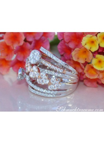 Multirow Diamond Ring (Heart Design)