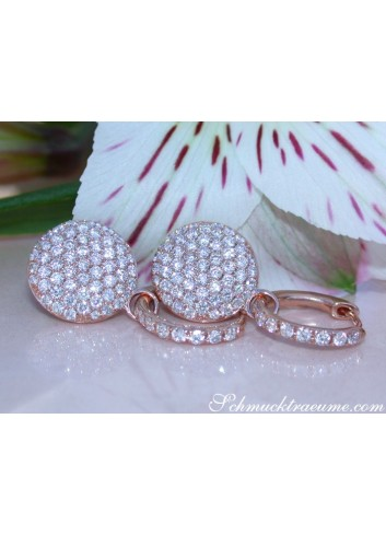 Pretty Diamond Earrings in Rose gold 14k