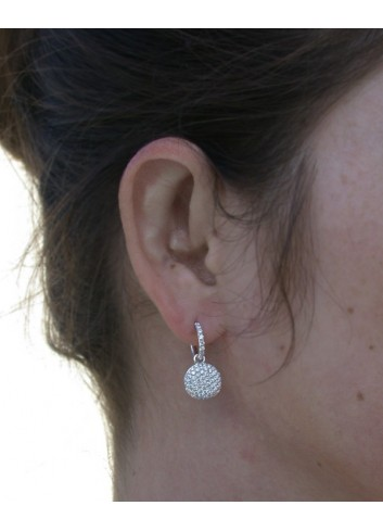 Pretty Diamond Earrings in White gold 14k