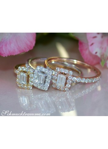 Drei Brillanten & Diamanten Ringe (stacking rings)