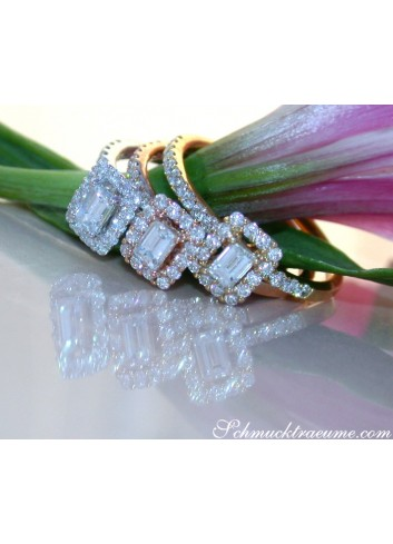 Three enchanting diamond rings (stacking rings)