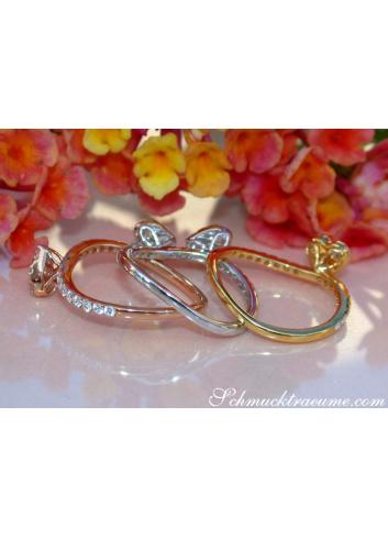 Drei Brillanten Herz Ringe