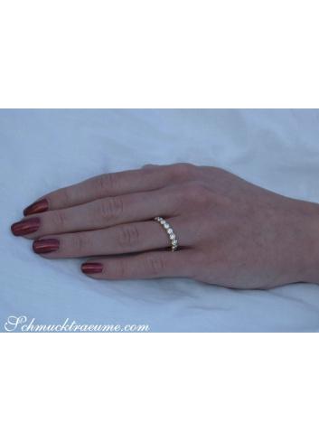 Brillanten Memory Ring in Gelbgold 750